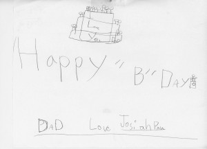 Happy Birthday from Josiah