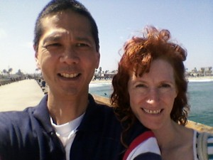 Tim and Jeri at Newport Pier. Click for full size.