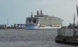 Allure of the Seas - World's Largest Cruise Ship. Click photo for full size.