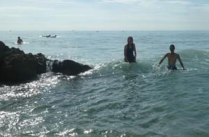Having Fun in the Atlantic. Click photo for full size.