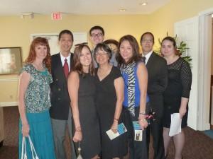 Jeri, Tim, Tina, Noble (back), Vivian, Mavis, Jon, Shannan. Click photo for full size.