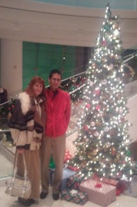 Jeri and Tim in the Lobby after the Holiday Organ Spectacular. Click photo for full size.
