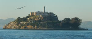 Alcatraz Island as viewed from the ferry. Click photo to view full size.