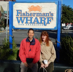 At the Sign for Fisherman's Wharf. Click photo to view full size.