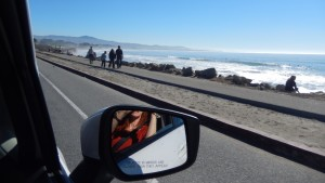 Driving Down Highway 1. Click photo to view full size.