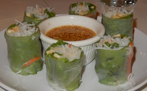 Fresh Spring Rolls at the Loving Hut. Click photo to view full size.