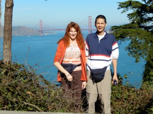 On our way to the Golden Gate Bridge. Click photo to view full size.