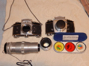 Exacta and Varex Cameras. Click photo for full size.