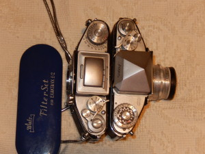 Top view of Exacta and Varex cameras. Click photo for full size.