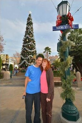 Tim and Jeri on Buena Vista Street.