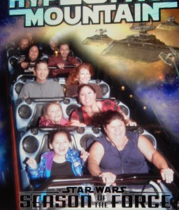 Tim and Jeri on Hyperspace Mountain. Click photo for full size.