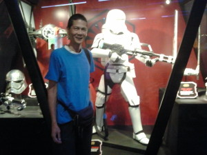 Tim at Star Wars Launch Bay. Click photo for full size.